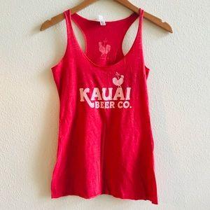 KAUAI BEER women's brewery tank top red M Hawaii